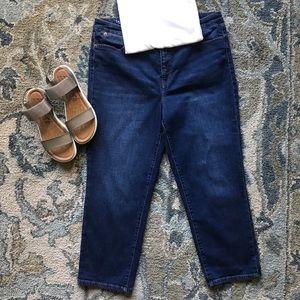 Talbots Flawless Straight Leg Crop Jeans